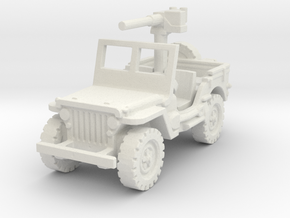 Jeep Willys 50 cal (window up) 1/120 in White Natural Versatile Plastic