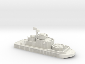 1/200 Program 5 River Boat with M49 105mm Howitzer in White Natural Versatile Plastic