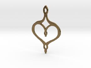 :Perfect Valentine: Pendant in Natural Bronze