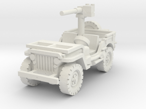 Jeep Willys 50 cal (window down) 1/72 in White Natural Versatile Plastic