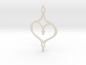 :Perfect Valentine: Pendant in White Acrylic
