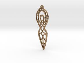 :Goddess Sketch: Pendant in Natural Brass