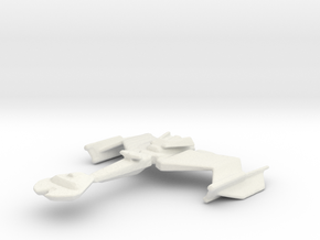 Klingon Kvek Class in White Natural Versatile Plastic