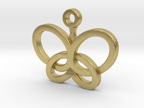 Custom Logo Charm in Natural Brass