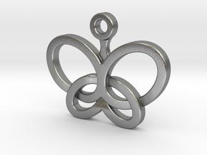 Custom Logo Charm in Natural Silver