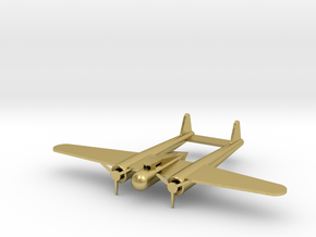 Fokker G-1 small in Natural Brass