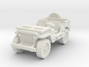 Jeep willys (window down) 1/56 in White Natural Versatile Plastic