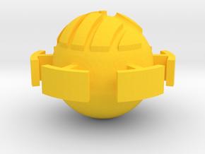 heartpiratepirnt in Yellow Processed Versatile Plastic
