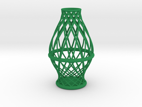 Spiral Vase Medium in Green Processed Versatile Plastic