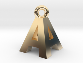 AA Pendant top in 14k Gold Plated Brass