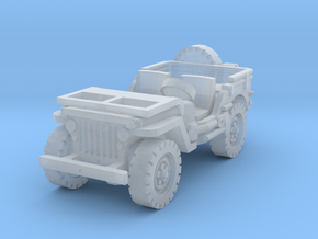 Jeep willys (window down) 1/144 in Smooth Fine Detail Plastic