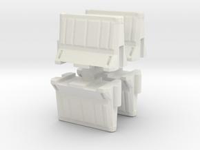 Interlocking traffic barrier (x4) 1/72 in White Natural Versatile Plastic