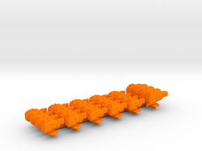Sigma Battle Group 1 in Orange Processed Versatile Plastic