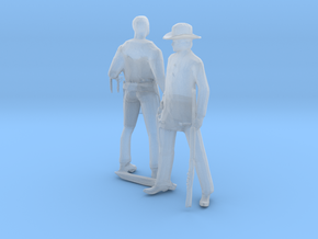 S Scale Old West Figures in Smooth Fine Detail Plastic