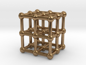 cube matrix in Natural Brass