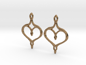:Perfect Valentine: Earrings in Natural Brass