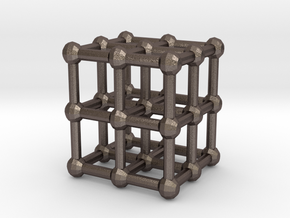 cube matrix in Polished Bronzed Silver Steel