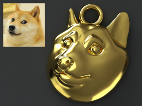 Doge Pendant in Polished Brass