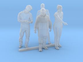 HO Scale Standing Men 2 in Smooth Fine Detail Plastic