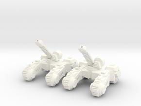 6mm - Blade Artillery in White Processed Versatile Plastic