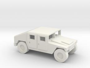 1/144 12mm scale Humvee M1025 HMMWV Hummer H1 in White Natural Versatile Plastic