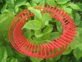 twisted torii gate loop in Red Processed Versatile Plastic