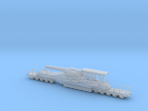 french 320mm railway artillery alvf 1/160 in Smooth Fine Detail Plastic