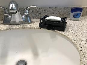 Soap Drying Dish  in Black Natural Versatile Plastic