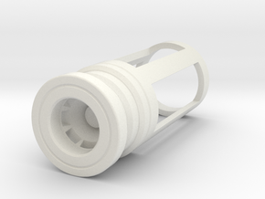 Blade Plug - Vortex in White Natural Versatile Plastic