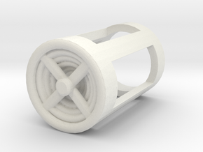 Blade Plug - Turbine in White Natural Versatile Plastic