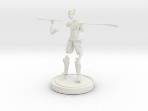 Steampunk Samurai in White Natural Versatile Plastic