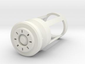 Blade Plug - Sunburst in White Natural Versatile Plastic