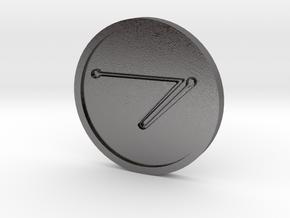 Zazel Spirit of Saturn Coin in Polished Nickel Steel