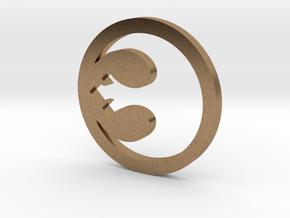Rebel Symbol in Natural Brass