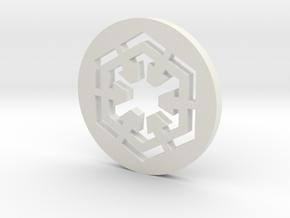 Sith Symbol in White Natural Versatile Plastic