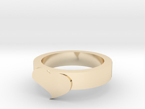 Cute Heart Ring in 14K Yellow Gold