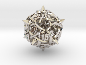 Thorn d20 V2 in Rhodium Plated Brass