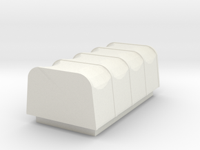 Lorry Open Back Tarp Accessory in White Natural Versatile Plastic