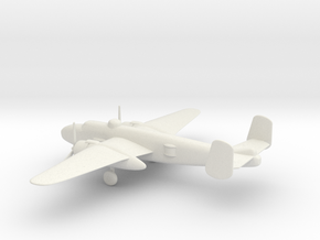 North American B-25J Mitchell in White Natural Versatile Plastic: 1:100
