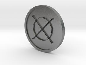 Seal of Jupiter Coin in Natural Silver