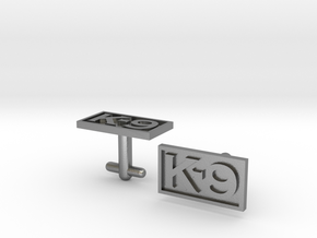 K-9 Cufflinks Silver, Brass, or Gold in Natural Silver