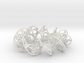 Jigsaw Helicoid Circle in White Natural Versatile Plastic