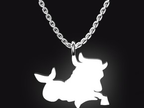 CAPRICORN for 12/22~1/19 birth. in Polished Bronzed Silver Steel