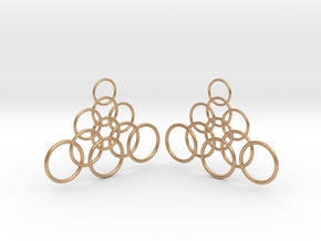 Ringy Earrings in Natural Bronze