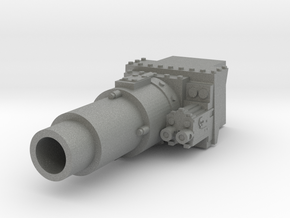 28mm Invader tank short gun - for new turret in Gray PA12