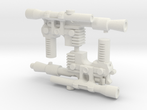 Solo Blaster, 5mm in White Natural Versatile Plastic: Large