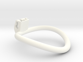 Cherry Keeper Ring - 63mm -4° in White Processed Versatile Plastic