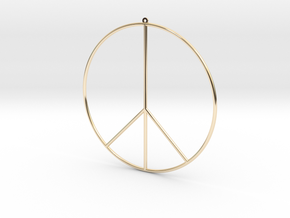 Gipsy Earring Peace in 14K Yellow Gold