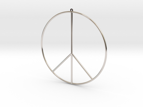 Gipsy Earring Peace in Rhodium Plated Brass