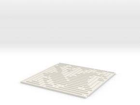[1DAY_1CAD] MAZE [2]  in White Natural Versatile Plastic